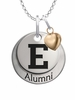Eastern Michigan Eagles Alumni Necklace with Heart Accent