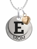 Eastern Michigan Eagles MOM Necklace with Heart Charm