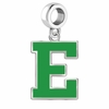 Eastern Michigan Eagles Silver Logo and School Color Drop Charm