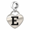 Eastern Michigan Engraved Heart Dangle Charm