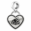 Elon Phoenix Border Heart Dangle Charm