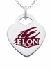 Elon Phoenix Logo Heart Pendant With Color