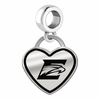 Emory Eagles Border Heart Dangle Charm