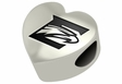 Emory Eagles Heart Shape Bead