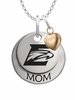 Emory Eagles MOM Necklace with Heart Charm