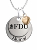 Fairleigh Dickinson Knights Alumni Necklace with Heart Accent