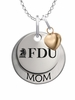 Fairleigh Dickinson Knights MOM Necklace with Heart Charm