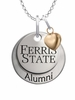 Ferris State Bulldogs Alumni Necklace with Heart Accent