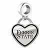 Ferris State Bulldogs Border Heart Dangle Charm