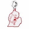 Ferris State Bulldogs Logo Dangle Charm