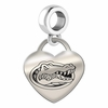 Florida Engraved Heart Dangle Charm