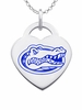 Florida Gators Logo Heart Pendant With Color