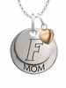 Florida Gators MOM Necklace with Heart Charm