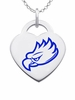 Florida Gulf Coast Eagles Logo Heart Pendant With Color