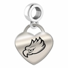Florida Gulf Coast Engraved Heart Dangle Charm
