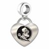 Florida State Engraved Heart Dangle Charm