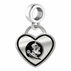 Florida State Seminoles Border Heart Dangle Charm