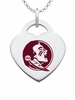 Florida State Seminoles Logo Heart Pendant With Color