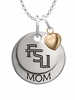 Florida State Seminoles MOM Necklace with Heart Charm