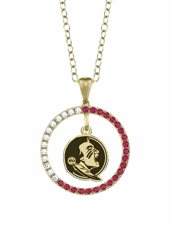Florida State Seminoles Ruby and Diamond Necklace