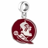 Florida State Seminoles Silver Logo and School Color Drop Charm