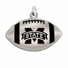 Football Charm with Antiqued Background