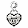 Fresno State Bulldogs Border Heart Dangle Charm