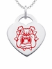 Fresno State Bulldogs Logo Heart Pendant With Color