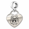Fresno State Engraved Heart Dangle Charm