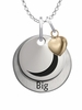 Gamma Phi Beta BIG Necklace with Heart Accent