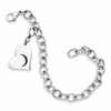 Gamma Phi Beta Stainless Steel Heart Bracelet