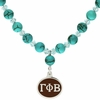 Gamma Phi Beta Turquoise Drop Necklace