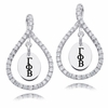 Gamma Phi Beta White CZ Figure 8 Earrings