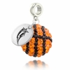 George Mason Crystal Drop Charm