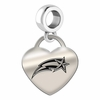 George Mason Engraved Heart Dangle Charm