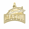 George Mason Patriots 14K Yellow Gold Natural Finish Cut Out Logo Charm