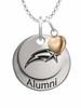 George Mason Patriots Alumni Necklace with Heart Accent