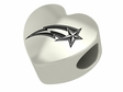 George Mason Patriots Heart Shape Bead
