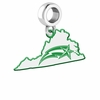 George Mason Patriots Logo Dangle Charm