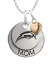 George Mason Patriots MOM Necklace with Heart Charm