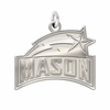 George Mason Patriots Natural Finish Charm