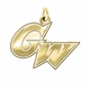 George Washington Colonials 14K Yellow Gold Natural Finish Cut Out Logo Charm