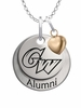 George Washington Colonials Alumni Necklace with Heart Accent