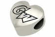 George Washington Colonials Heart Shape Bead