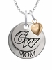 George Washington Colonials MOM Necklace with Heart Charm
