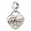 George Washington Engraved Heart Dangle Charm