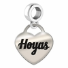 Georgetown Engraved Heart Dangle Charm
