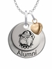 Georgetown Hoyas Alumni Necklace with Heart Accent
