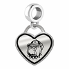 Georgetown Hoyas Border Heart Dangle Charm