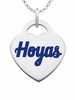 Georgetown Hoyas Color Logo Heart Charm